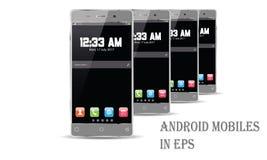 Vecteur de téléphone portable d'Android Photos libres de droits