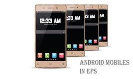 Vecteur de téléphone portable d'Android Images libres de droits