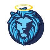 Vecteur de tête de lion de Dieu Images stock