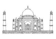 Vecteur de Taj Mahal Agra India Monument illustration de vecteur
