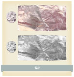 Vecteur de texture d'aluminium Photos libres de droits