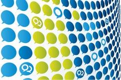 vecteur de texture de conversation Image libre de droits