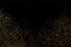 Vecteur de texture de scintillement d'or Photographie stock