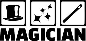 Vecteur de Tools de magicien illustration libre de droits