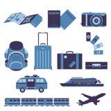 Vecteur de touriste et de voyage de voyage illustration stock