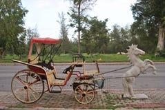 vecteur de trame d'illustration de cheval de chariot Photo stock