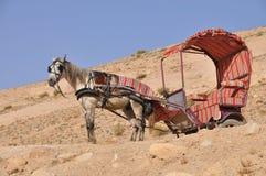 vecteur de trame d'illustration de cheval de chariot photographie stock libre de droits