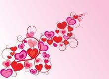 vecteur de valentine d'ornement de coeur Photo stock