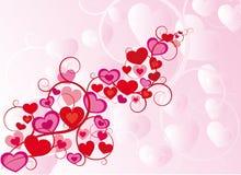 vecteur de valentine d'ornement de coeurs Images libres de droits