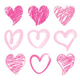 Vecteur de Valentine Heart Brush Cute Cartoon d'amoureux je t'aime illustration de vecteur