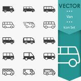 Vecteur de Van icons Photographie stock