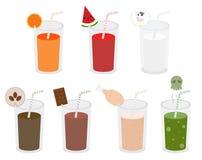 Vecteur de variété de boisson illustration stock