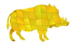 Vecteur de verrat jaune illustration de vecteur