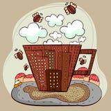 Vecteur de ville de café illustration de vecteur