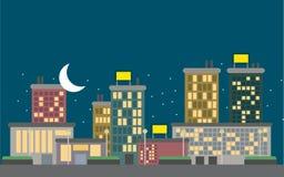 Vecteur de ville de nuit Photo libre de droits