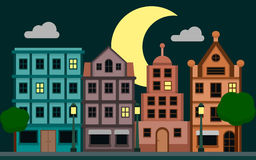 Vecteur de ville de nuit Image libre de droits