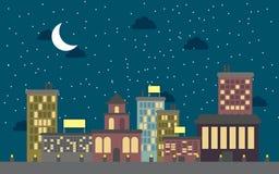 Vecteur de ville de nuit Images stock