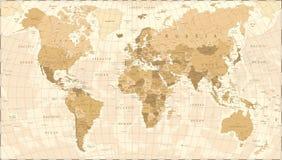 Vecteur de vintage de carte du monde Illustration Stock