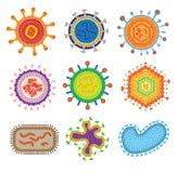 Vecteur de virus de bactéries Image stock