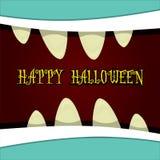 Vecteur de visage de monstre Carte de voeux de Halloween Photographie stock