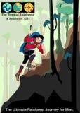 Vecteur de voyage d'illustration, la forêt tropicale tropicale d'Asie du Sud-Est Illustration de Vecteur