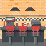 Vecteur de wagon-restaurant de vintage Image stock
