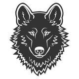 Vecteur de Wolf Logo Mascot Emblem Wolf Head Photographie stock libre de droits