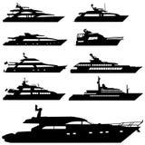 Vecteur de yacht de moteur Images libres de droits