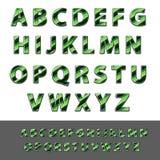 Vecteur des alphabets de ouvrage de papier Images stock