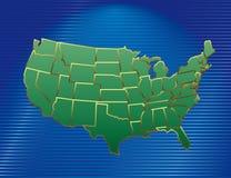 vecteur des Etats-Unis de carte Photographie stock libre de droits