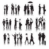 Vecteur des gens d'affaires de concept différent d'actions illustration de vecteur