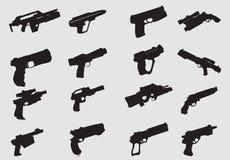 Vecteur des silhouettes d'arme Image stock