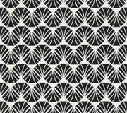 Vecteur Diamond Art Nouveau Seamless Pattern Texture décorative géométrique de feuilles Rétro fond élégant Image stock