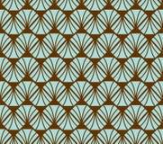 Vecteur Diamond Art Nouveau Seamless Pattern Texture décorative géométrique de feuilles Rétro fond élégant Images stock
