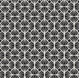 Vecteur Diamond Art Nouveau Seamless Pattern Texture décorative géométrique de fleur Rétro fond élégant illustration libre de droits
