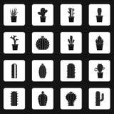 Vecteur différent d'équerres d'icônes de cactus Photo stock