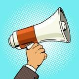 Vecteur disponible de style d'art de bruit de mégaphone illustration libre de droits