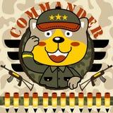 Vecteur drôle de bande dessinée de troupes Photos libres de droits