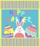 Vecteur drôle de Pâques avec coloré Photographie stock