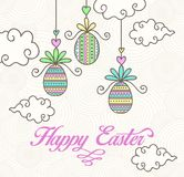 Vecteur drôle de Pâques avec coloré Photos libres de droits
