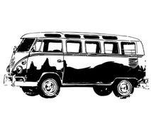 Vecteur du vecteur ENV de camping-car, ENV, logo, icône, illustration de silhouette par des crafteroks pour différents usages Vis illustration libre de droits