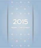 Vecteur du flocon de neige 2015 de fond de Noël Images stock