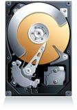 Vecteur du lecteur de disque dur HDD Images libres de droits