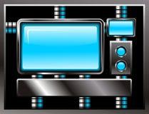 Vecteur en acier d'écran de Web Photos stock