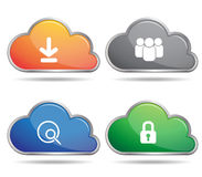 Vecteur en acier d'icône de bouton et de wifi Photo stock