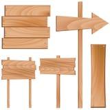 Vecteur en bois de signe Image libre de droits