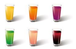 Vecteur en verre de jus Photographie stock