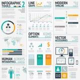 Vecteur EPS10 d'ensemble d'éléments d'Infographic grand Image libre de droits