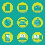 Vecteur et icône de communication illustration stock
