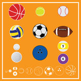 Vecteur et icône de sport de boule illustration libre de droits